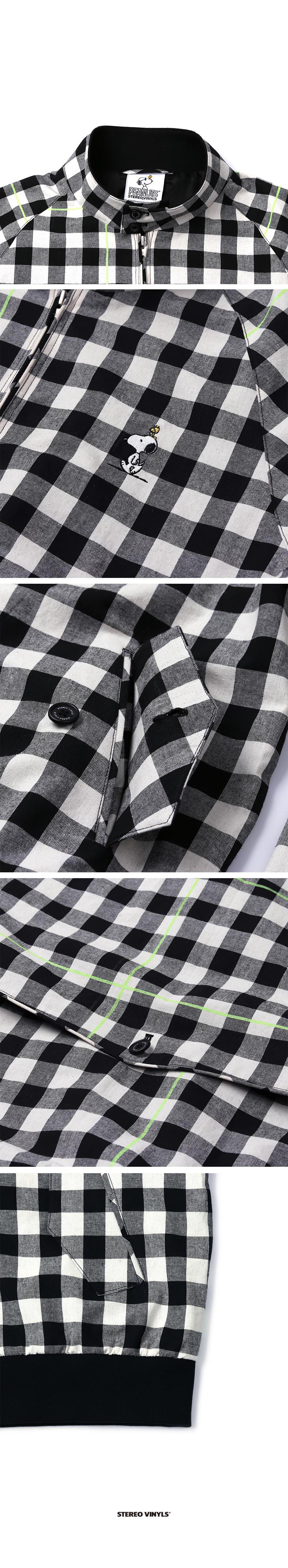 스테레오 바이널즈(STEREO VINYLS) [SS18 Peanuts] Harrington Jacket(Black)