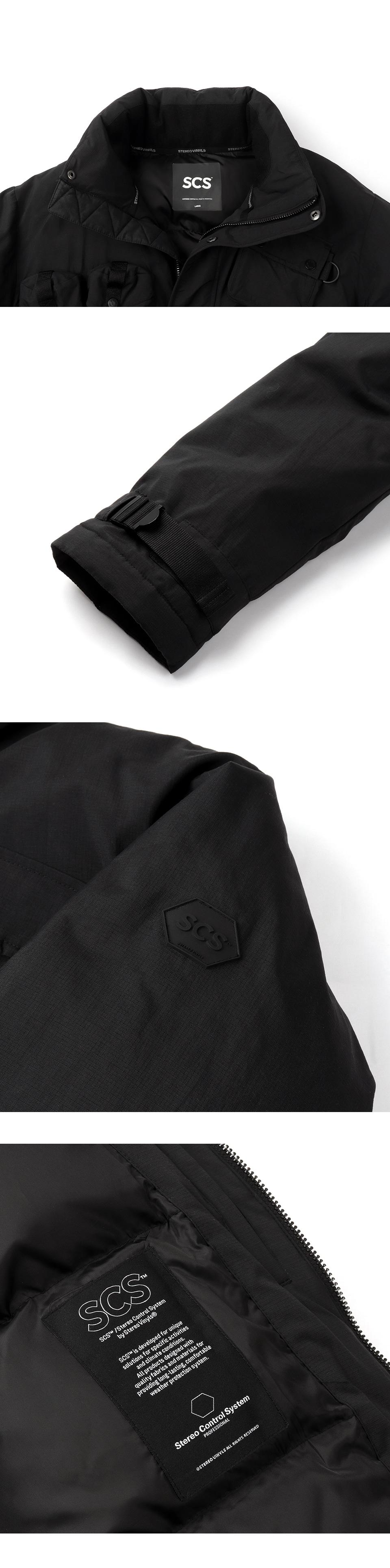 스테레오 바이널즈(STEREO VINYLS) [FW18 SCS] Stereo Multi Pocket Down Parka(Black)