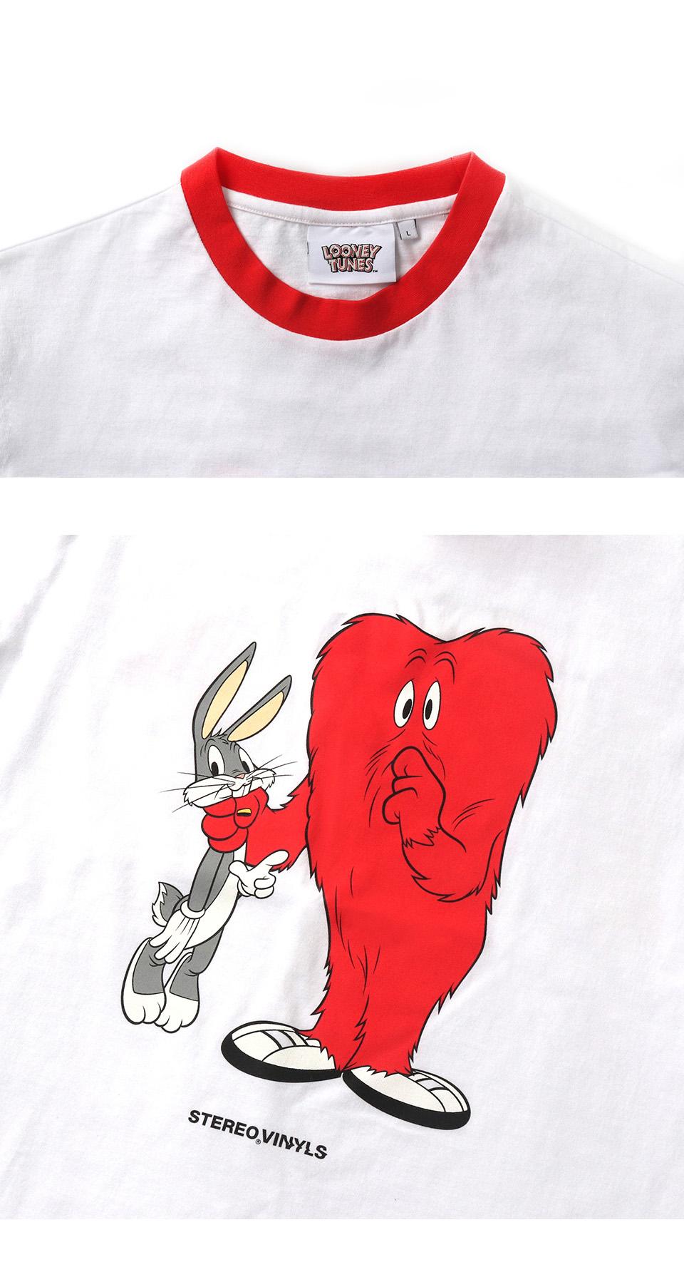 스테레오 바이널즈(STEREO VINYLS) [SS19 Looney Tunes] Gossamer T-Shirts(White)