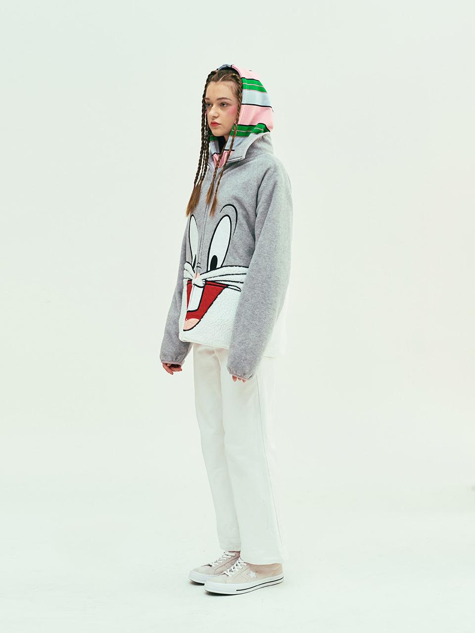 스테레오 바이널즈(STEREO VINYLS) [SS19 STEREO X LOONEY TUNES] Boa Jumper(Grey)