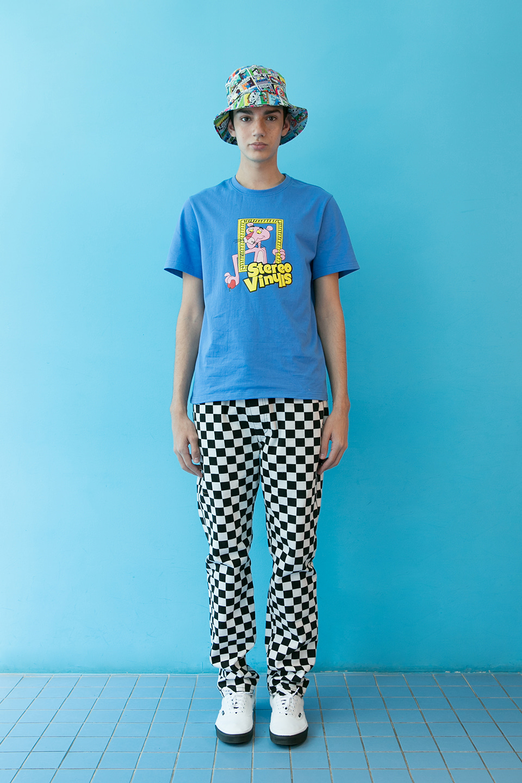 스테레오 바이널즈(STEREO VINYLS) [SS19 Pink Panther] PP Vintage T-Shirts(Blue)