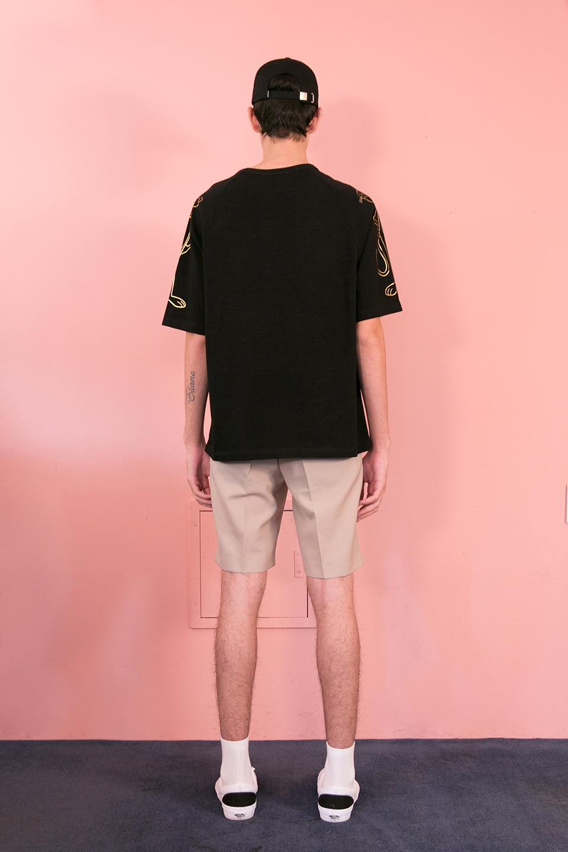 스테레오 바이널즈(STEREO VINYLS) [SS19 Pink Panther] PP Raglan T-Shirts(Black)
