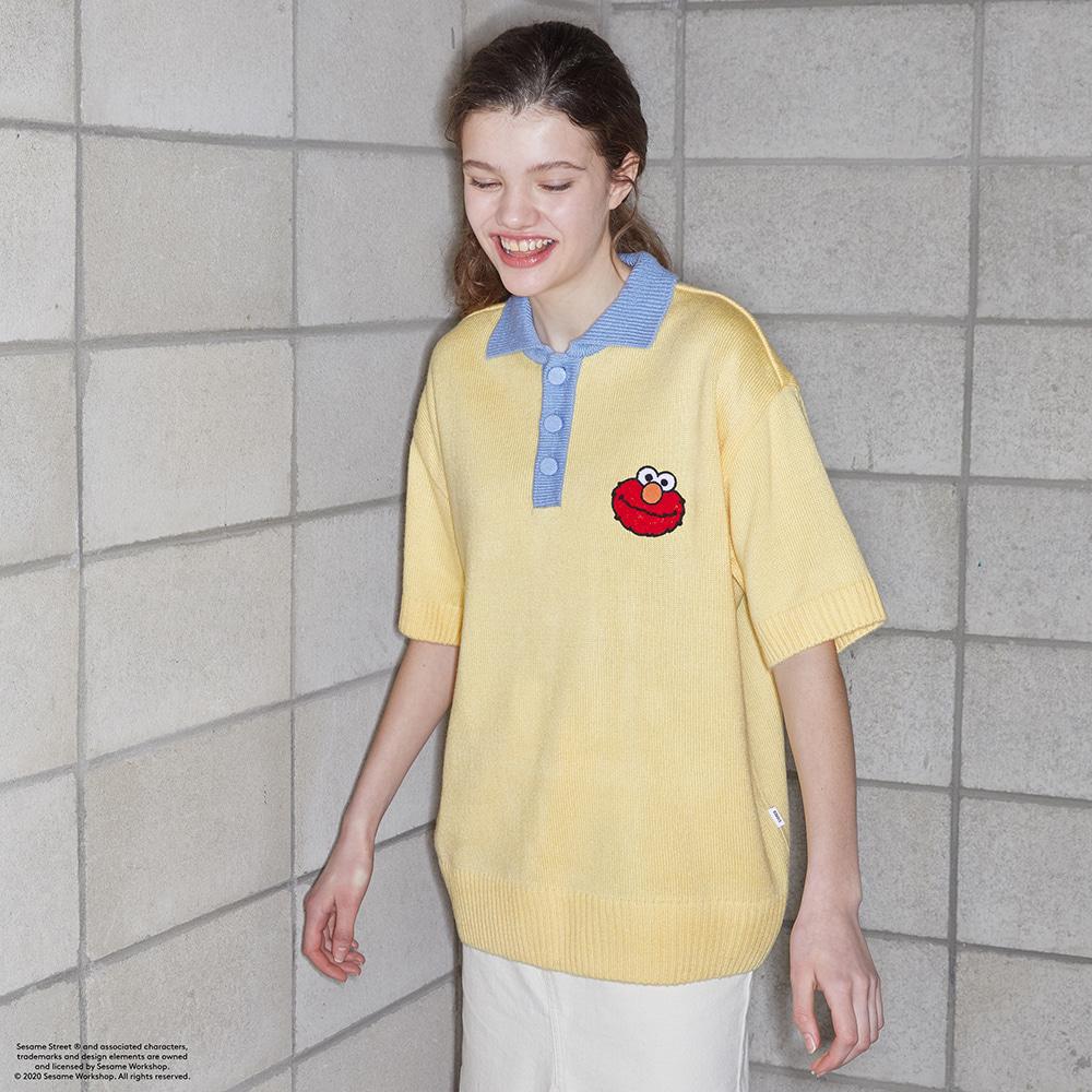 스테레오 바이널즈(STEREO VINYLS) [SS20 SV X Sesame Street] Pique Knit(Yellow)