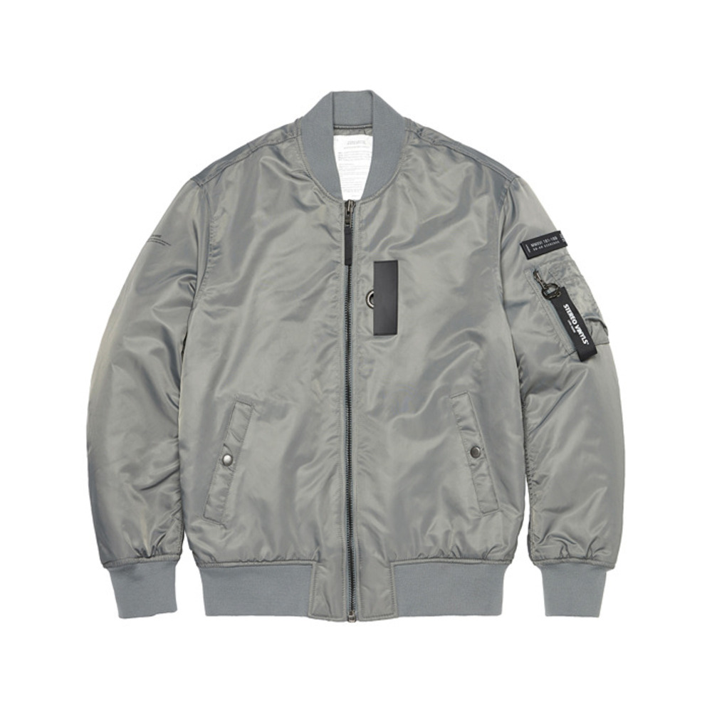 [AW16 Music] MA-1 Jacket(Grey) STEREO-SHOP