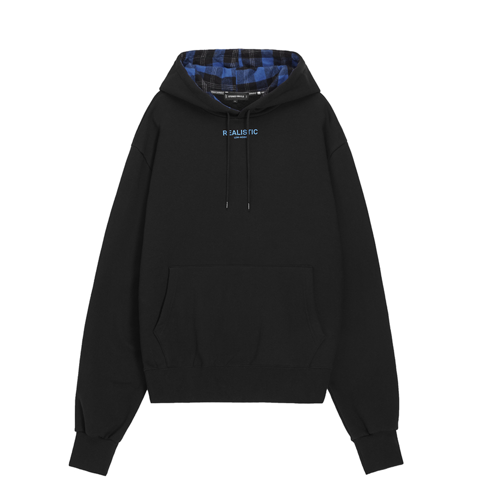 [AW16 Music] Realistic Oversized Hoodie(Black) STEREO-SHOP