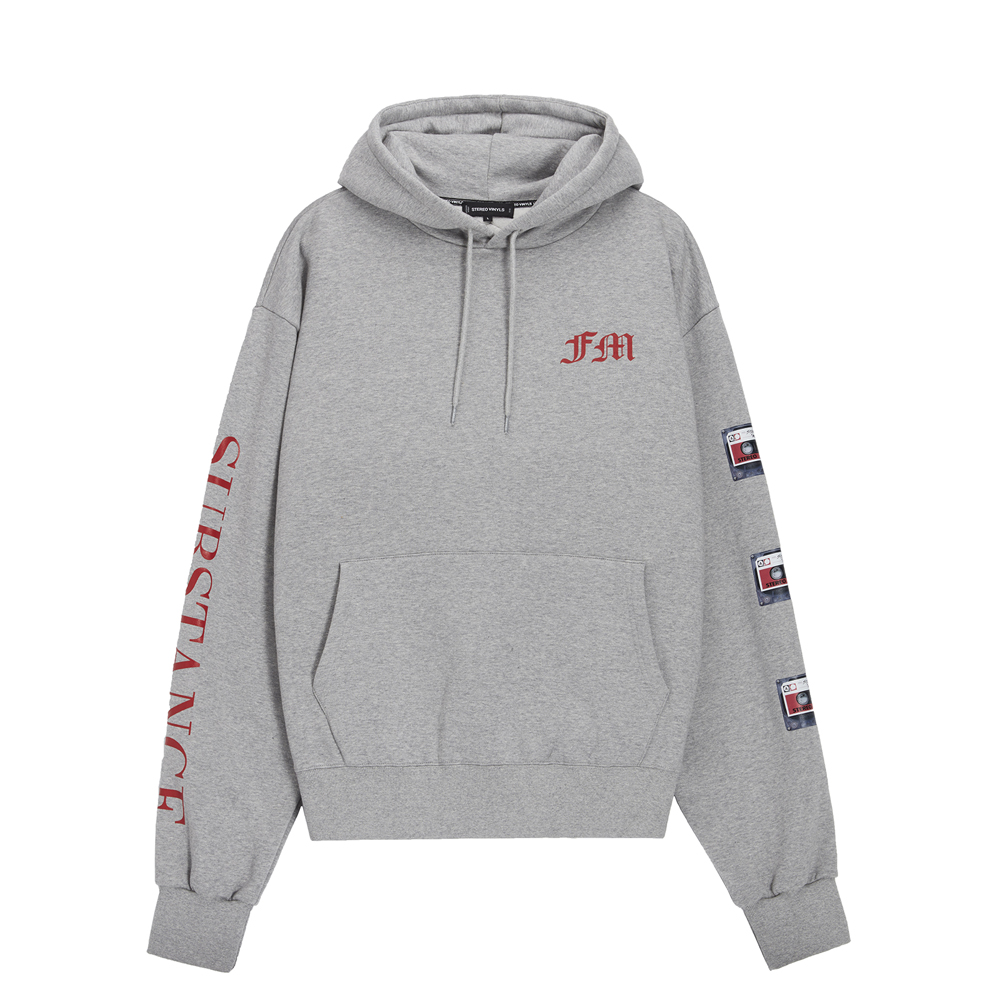 [AW16 Music] Tape Oversized Hoodie(Grey) 스테레오 바이널즈