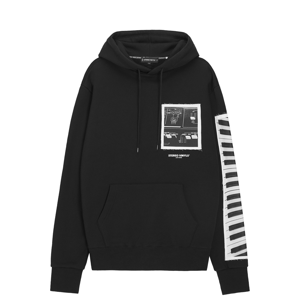 [AW16 Music] Keyboard Hoodie(Black) 스테레오 바이널즈