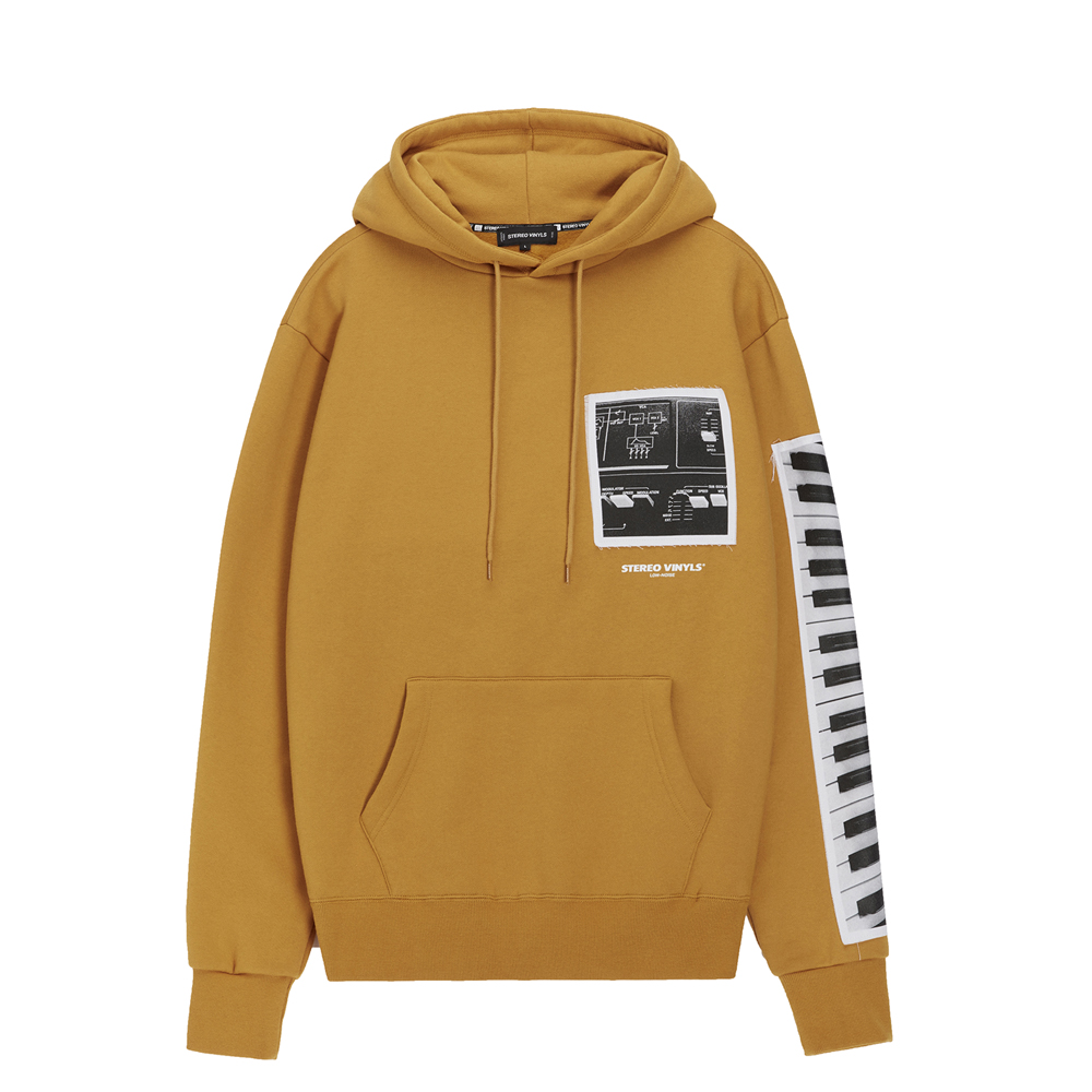 [AW16 Music] Keyboard Hoodie(Mustard) STEREO-SHOP