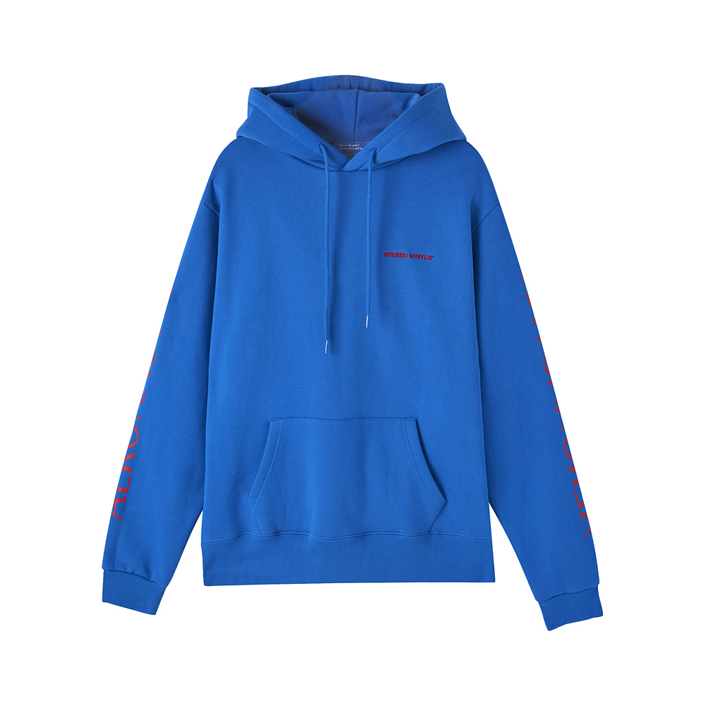 [AW17 ISA] Planet Fleece Hoody(Blue) 스테레오 바이널즈