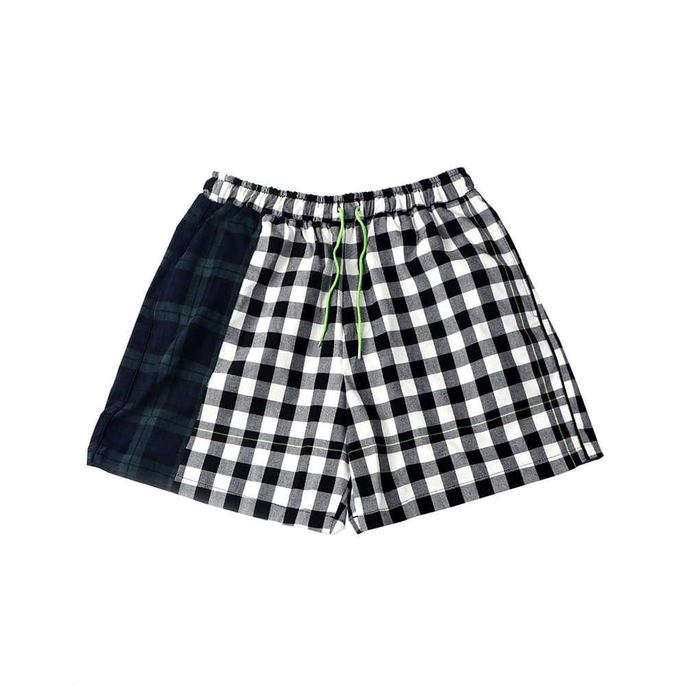 [SM18 Peanuts] Check Short Pants(Black) 스테레오 바이널즈