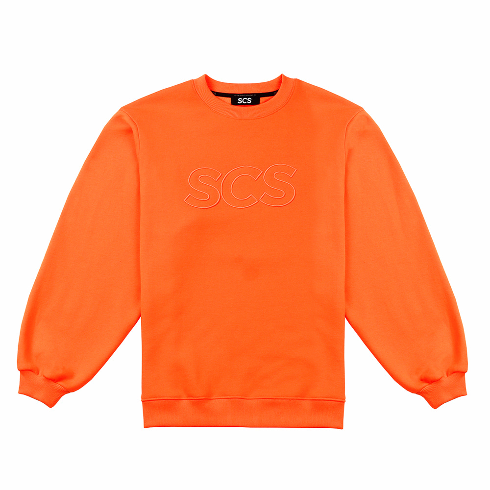 [FW18 SCS] Logo Sweatshirts(Orange) 스테레오 바이널즈