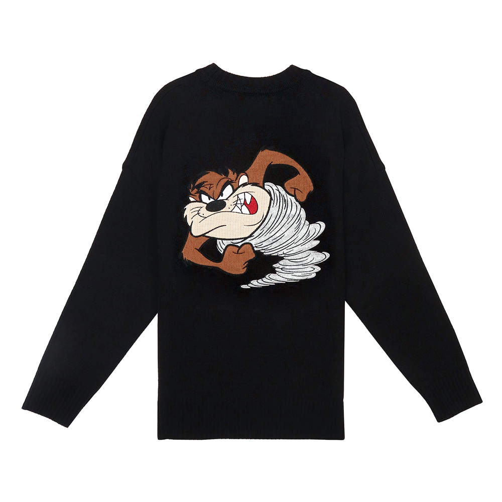 [SS19 STEREO X LOONEY TUNES] Patch Knit(Black) 스테레오 바이널즈
