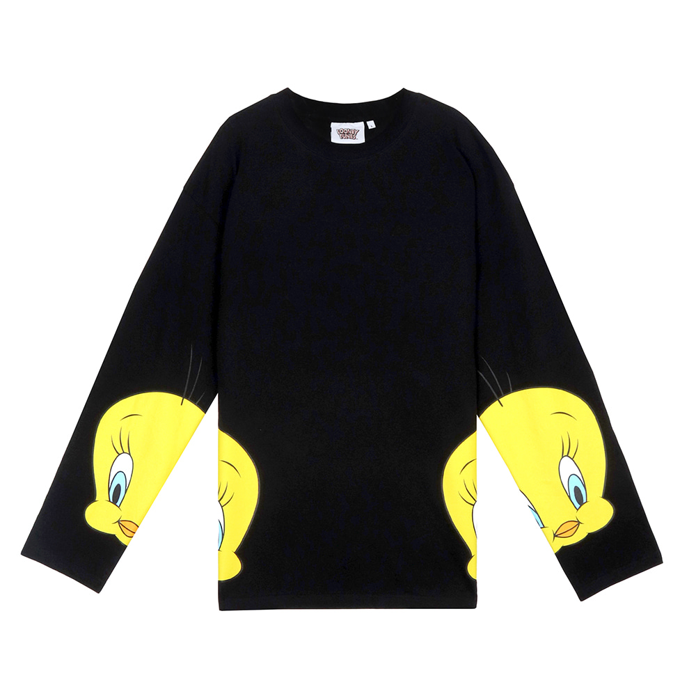 [SS19 STEREO X LOONEY TUNES] Basic Long Sleeve(Black) 스테레오 바이널즈