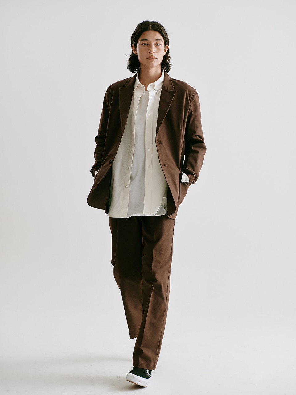 [FW20 Sounds Life] Oxford Club Jacket(Brown) 스테레오 바이널즈[FW20 Sounds Life] Oxford Club Jacket(Brown)