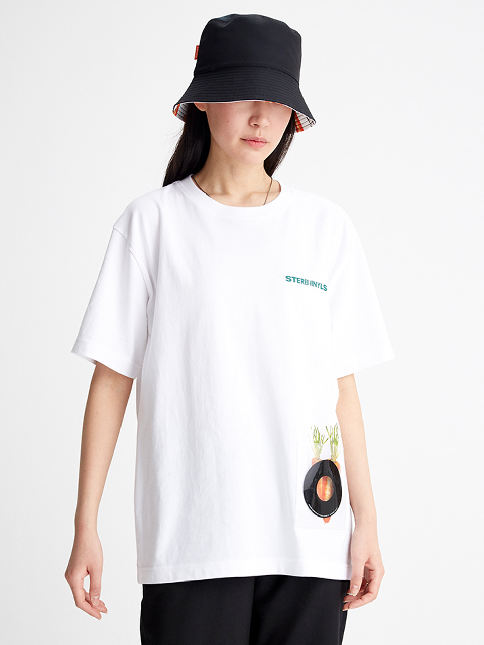 [SS20 SV X Carrots] Pvc Pocket T-Shirts(White) 스테레오 바이널즈[SS20 SV X Carrots] Pvc Pocket T-Shirts(White)