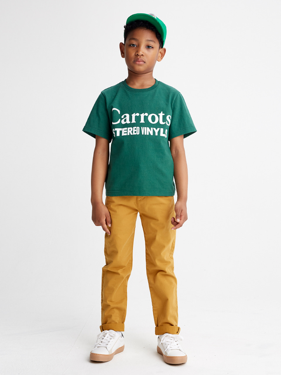 [SS20 SV X Carrots] Carrots Logo T-Shirts for Kids(Green) 스테레오 바이널즈[SS20 SV X Carrots] Carrots Logo T-Shirts for Kids(Green)