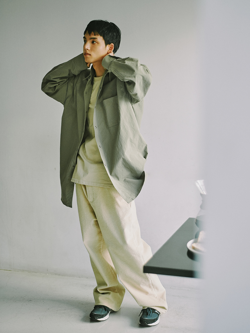 [FW20] Big Corduroy Straight Pants(Beige) 스테레오 바이널즈[FW20] Big Corduroy Straight Pants(Beige)